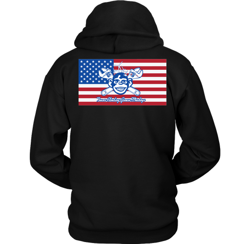 American Grease Monkey Hoodie 9 oz