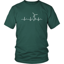 Wind Turbine Heart Beat T Shirt 4.3 oz