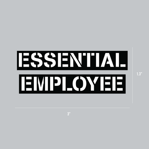 Essential Employee Hard Hat Stickers