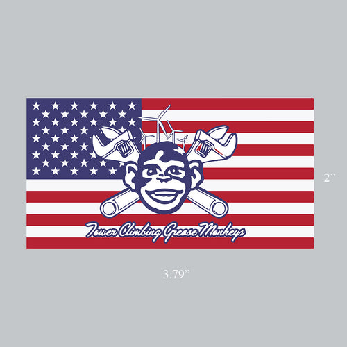 Grease Monkey American Flag Decal