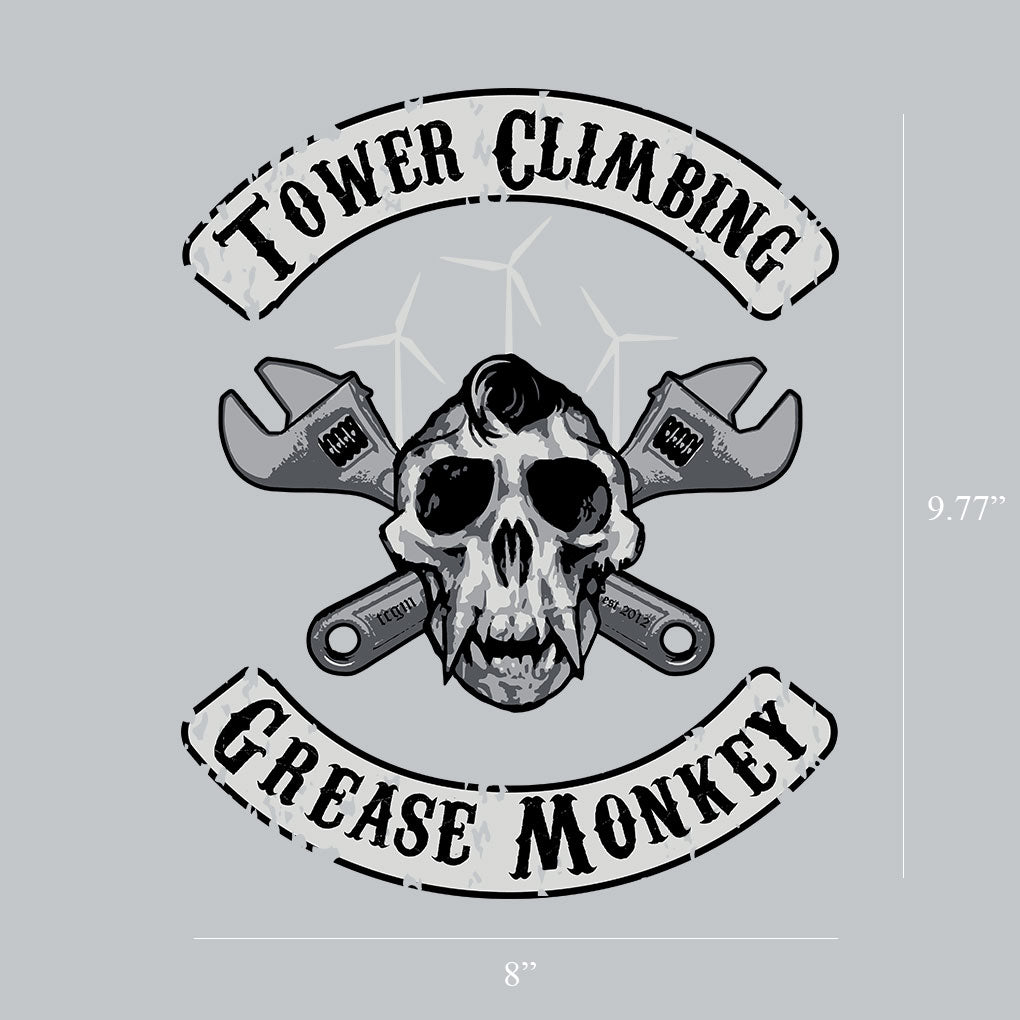Skull Monkey Window Decal