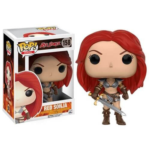 RED SONJA FUNKO POP! VINYL FIGURE #158 BOX DAMAGED