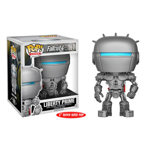 FALLOUT LIBERTY PRIME 6-INCH SUPER SIZED FUNKO POP! VINYL FIGURE #167 [Box Damaged]