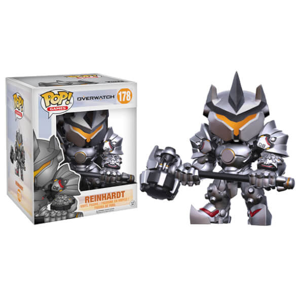 OVERWATCH REINHARDT SUPER SIZED 6-INCH FUNKO POP! VINYL FIGURE