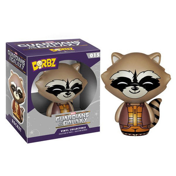 MARVEL GUARDIANS OF THE GALAXY ROCKET RACCOON VINYL SUGAR FUNKO DORBZ ACTION FIGURE #015