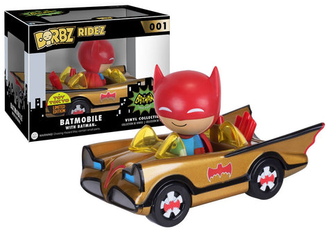 DC COMICS BATMAN 1966 TV SERIES BATMOBILE LIMITED EDITION GOLDEN DORBZ ACTION FIGURE