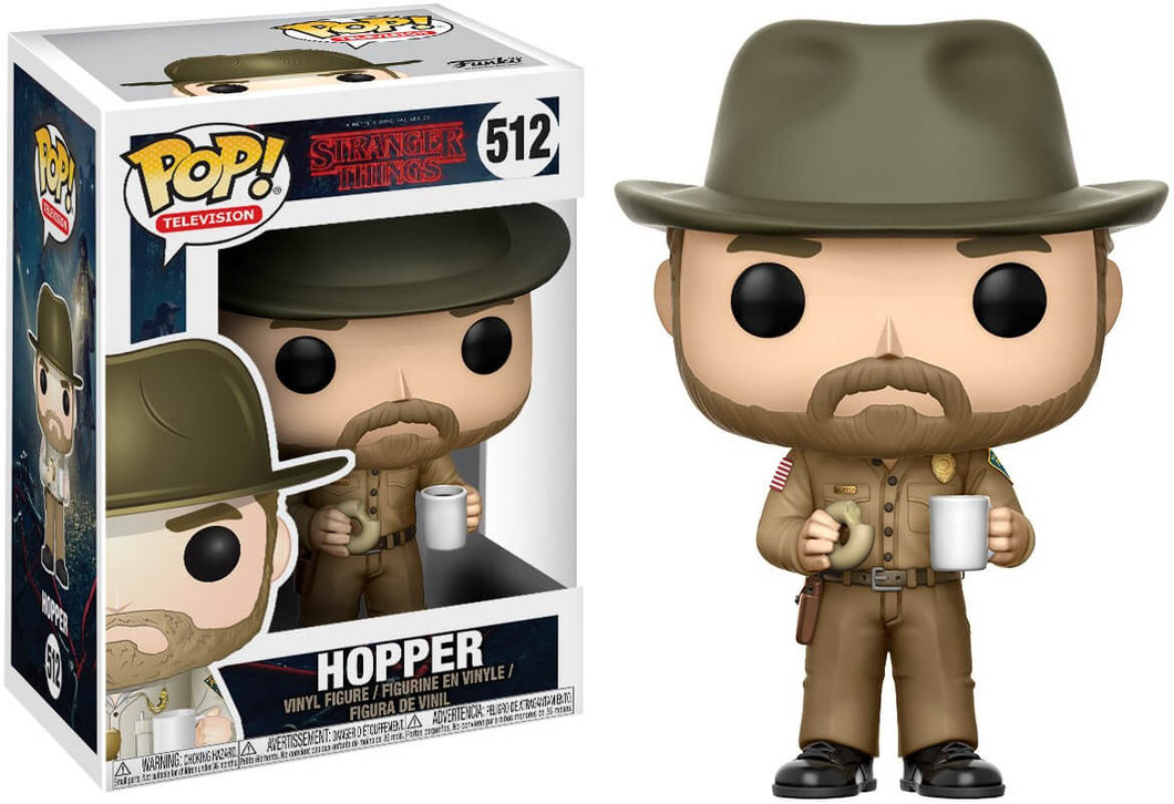 Stranger Things Hopper with Donut Funko Pop! Vinyl Figure #512