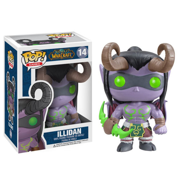 WORLD OF WARCRAFT ILLIDAN VINYL FIGURE #14 FUNKO POP
