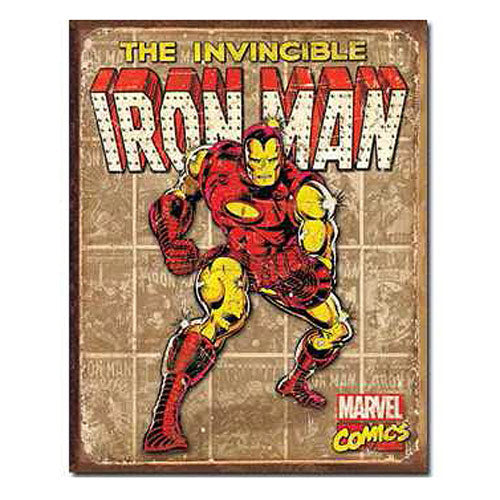 The Invincible Iron Man Panels Marvel Comics Retro Tin Sign