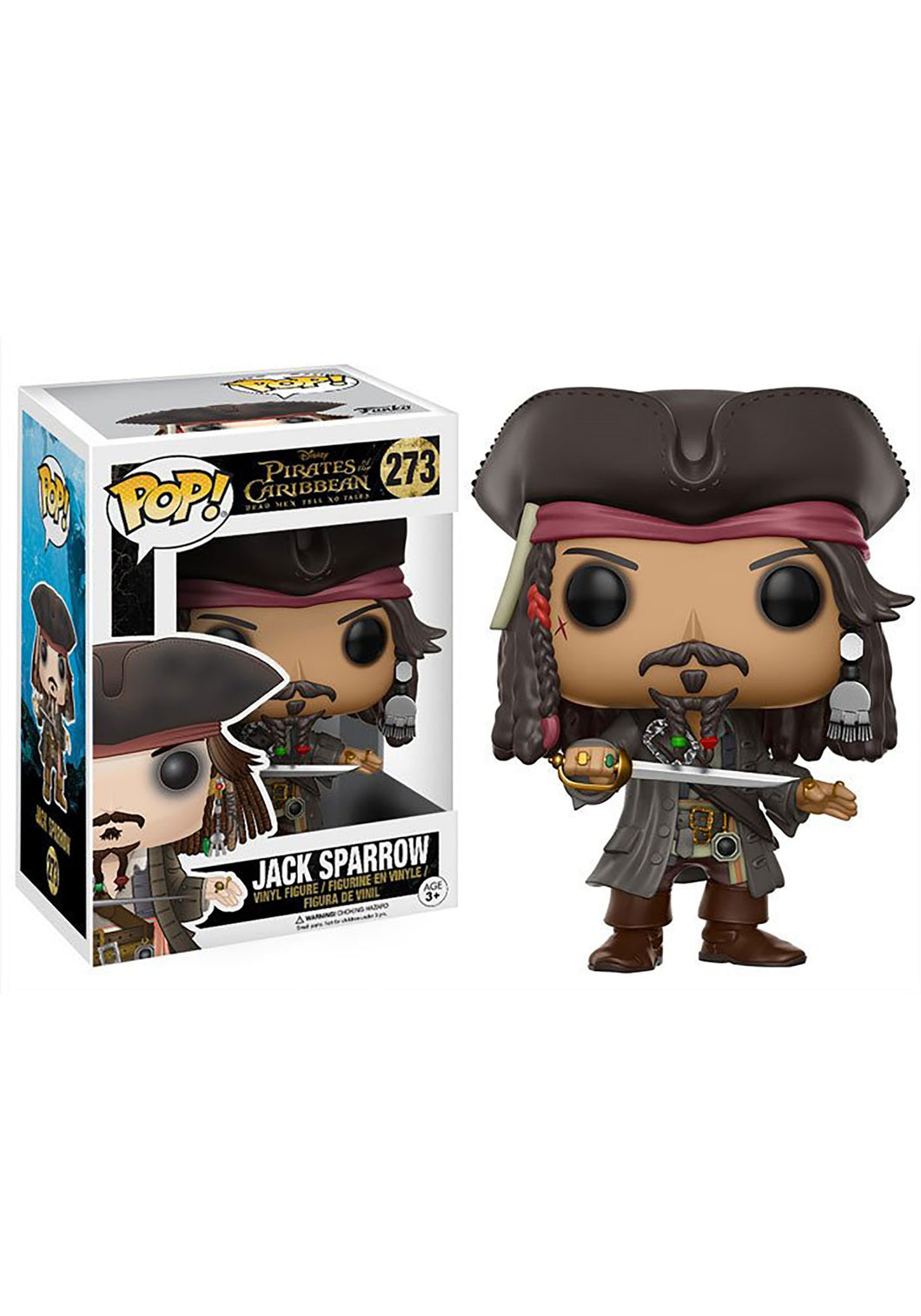 DISNEY PIRATES OF THE CARIBBEAN JACK SPARROW POP! VINYL FIGURE #273