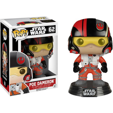 FUNKO POP! POE DAMERON BOBBLE HEAD #62