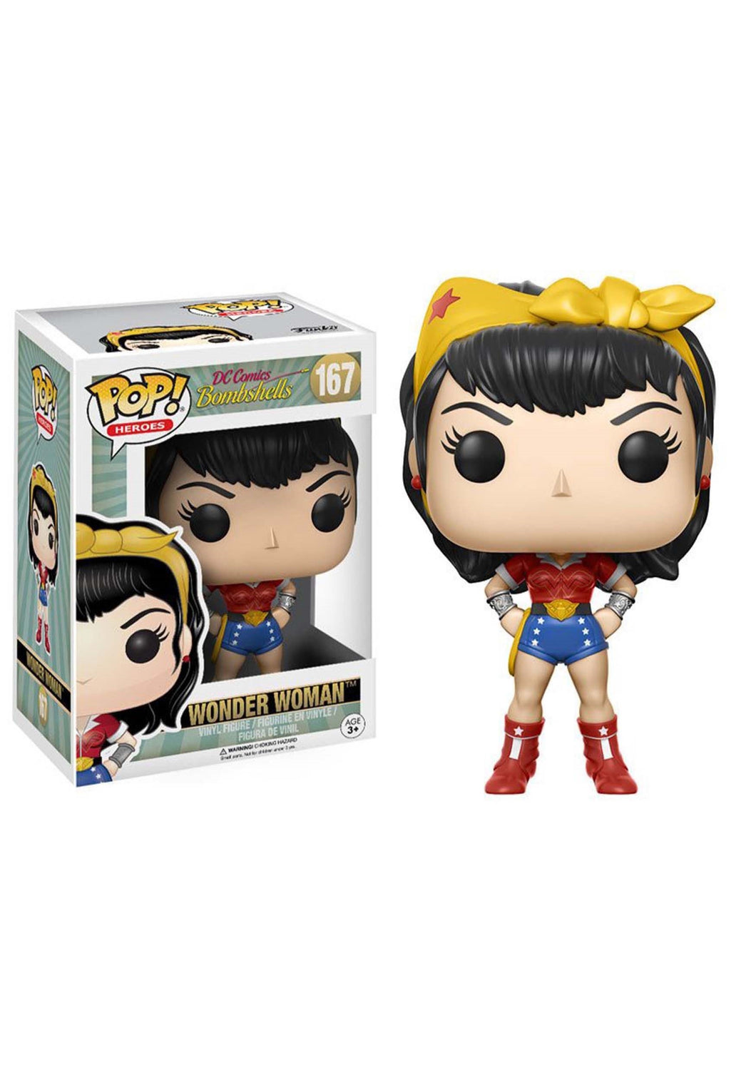 POP HEROES: Limited Edition DC BOMBSHELLS - WONDER WOMAN VINYL FIGURE #167