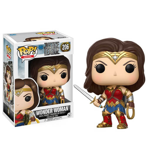 JUSTICE LEAGUE WONDER WOMAN FUNKO POP! VINYL FIGURE #206