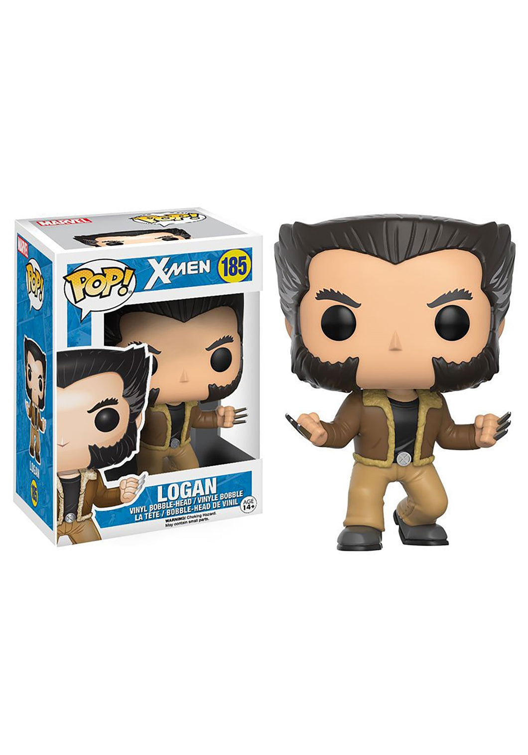 X-MEN LOGAN BOBBLEHEAD FUNKO POP! VINYL FIGURE #185