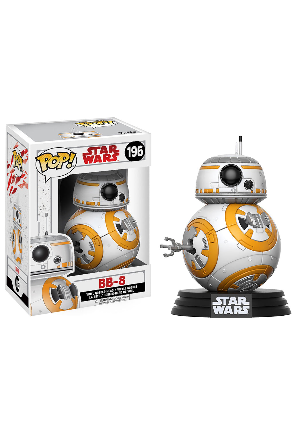 STAR WARS THE LAST JEDI FUNKO POP BB-8 BOBBLEHEAD FIGURE #196