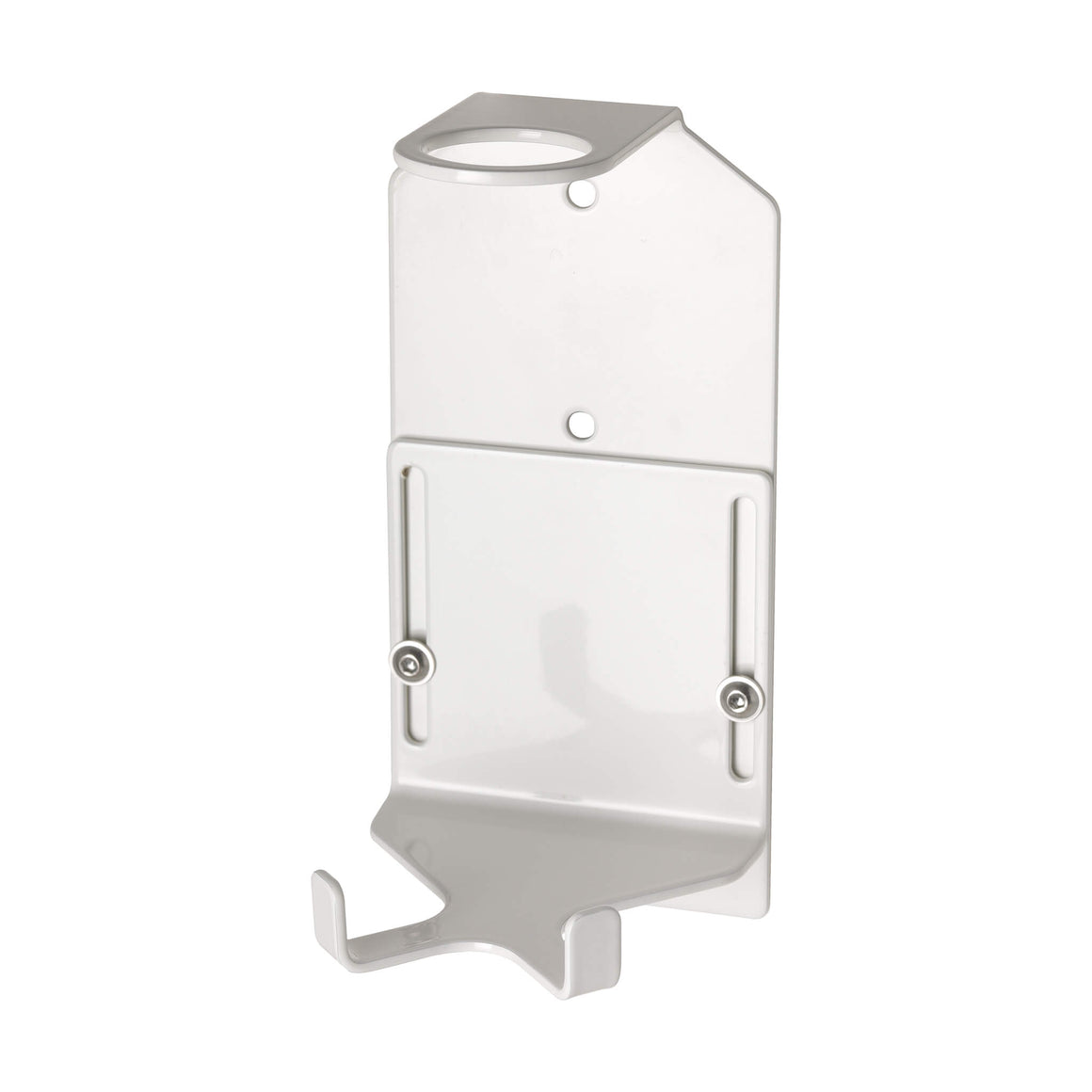 Single 500ml Security Wall-Mounted Holder - Satin White (ONE ONLY IN STOCK)