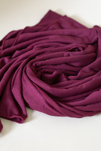 Dark Cherry Jersey Hijab