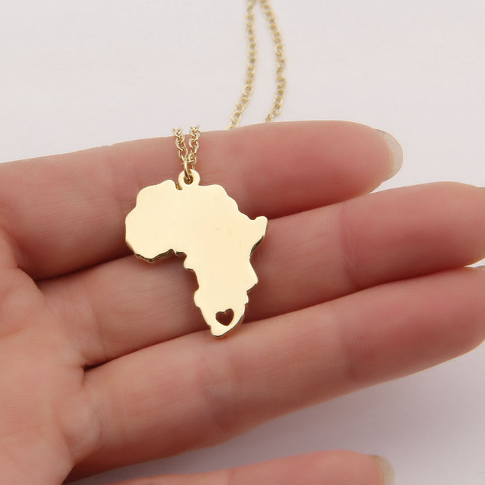 Gold/Silver Color Africa Necklace