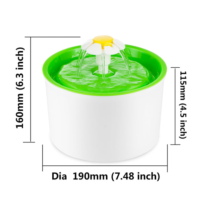 Automatic Drinking Fountain - Flower Style Cat Bowl