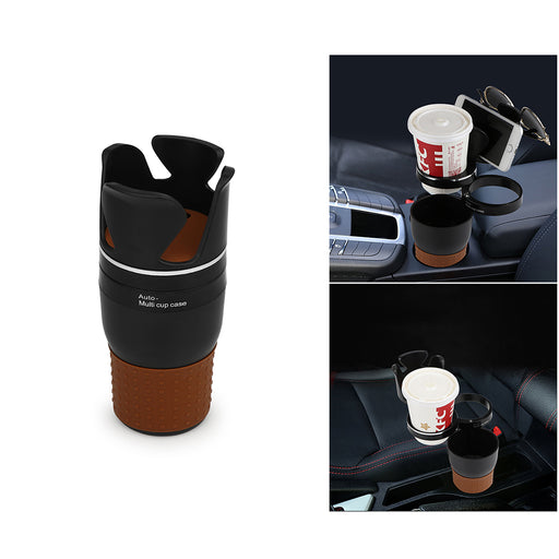 Multi-Cup Car Cup-Holder and Storage
