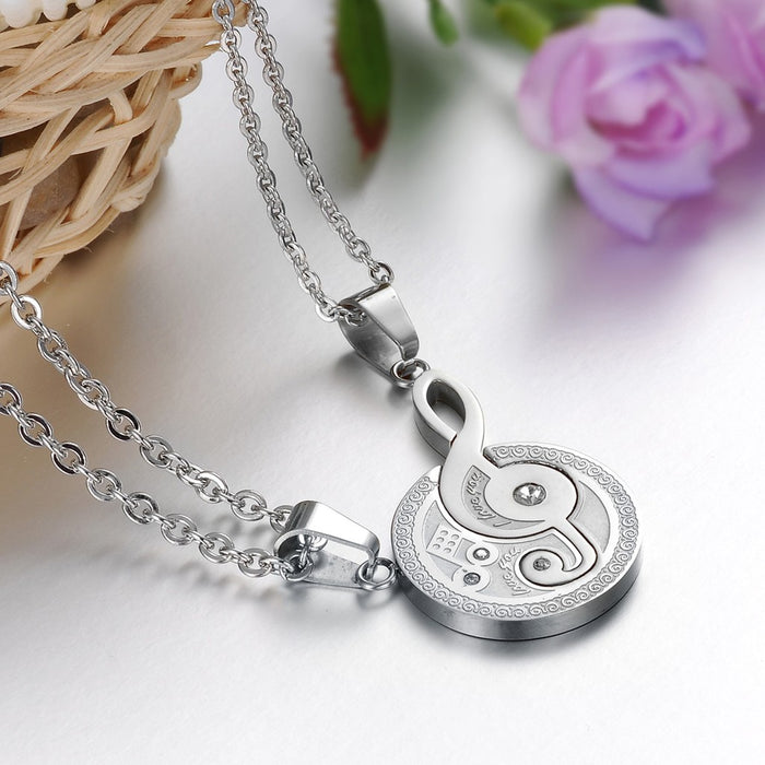 Titanium Steel Musical Notation Necklace