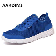 Big size mesh unisex casual shoes