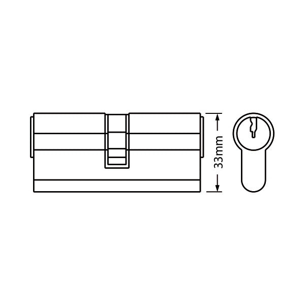 Glenn Euro Cylinder Lock - Both Side Key