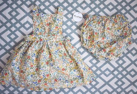 Storybook Floral Pinafore