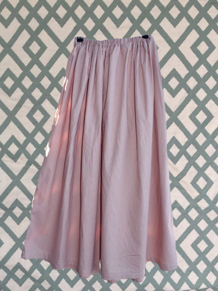 Blush Pink Linen Skirt - Womens