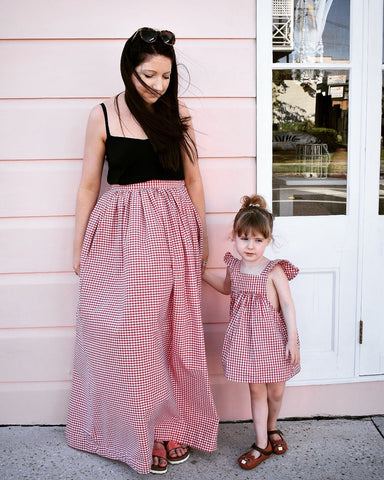 Maxi Skirt - Red Gingham