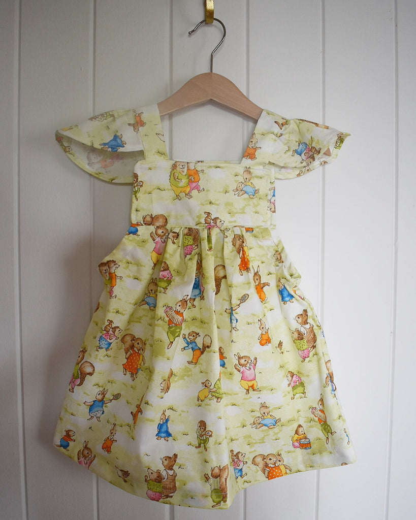 Bunny Village Frill Sleeve Dress