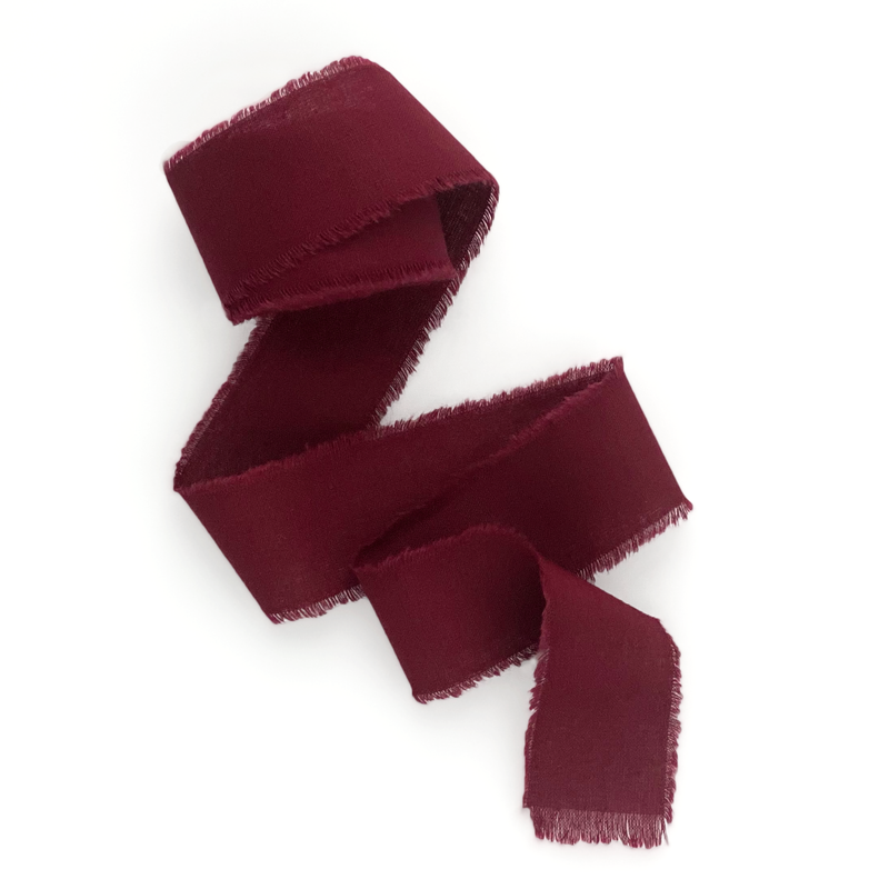 Burgundy cotton ribbon