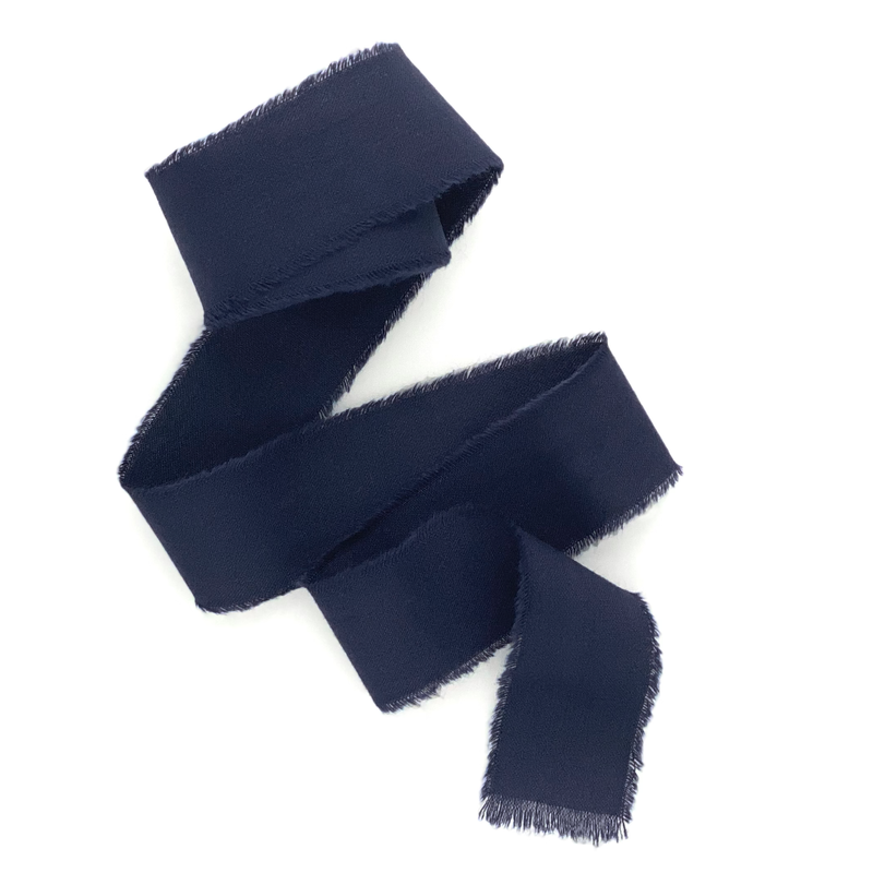 Navy blue cotton ribbon