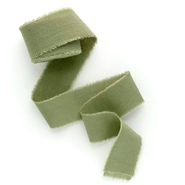 Olive cotton ribbon