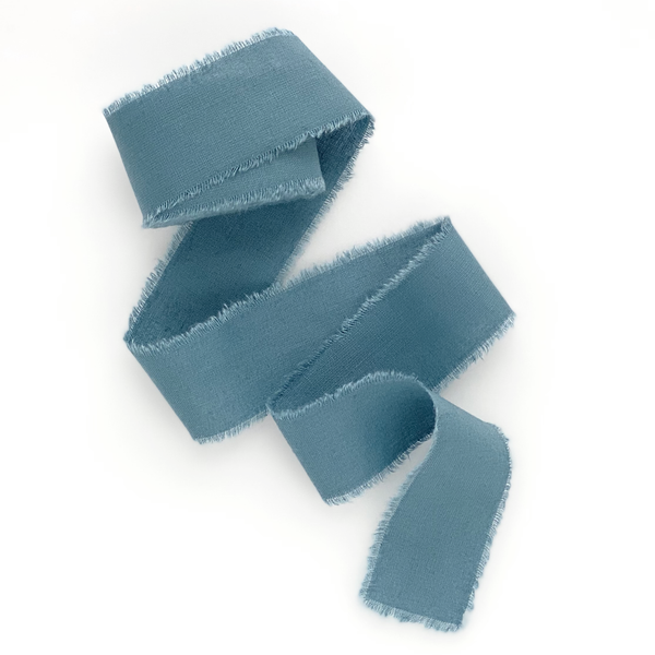 Slate blue cotton ribbon