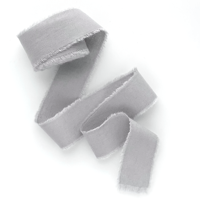Light gray cotton ribbon