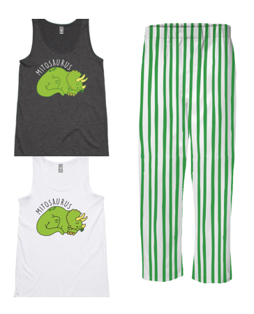 PJ Set: Women's Mitosaurus Singlet and Green Pants