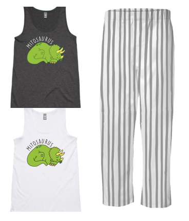 PJ Set: Women's Mitosaurus Singlet and Grey Pants