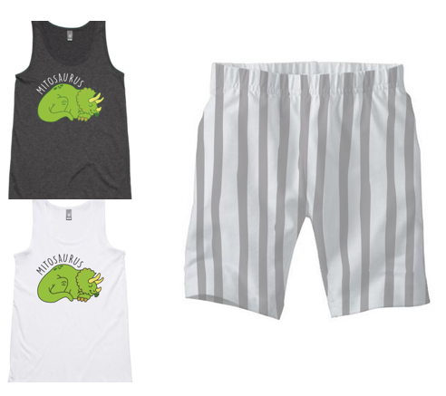 PJ Set: Women's Mitosaurus Singlet and Grey Shorts