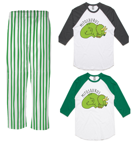 PJ Set: Adult's Mitosaurus Raglan and Green Pants