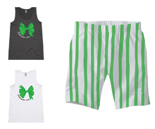 PJ Set: Women's Singlet and Green Shorts