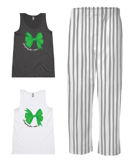 PJ Set: Women's Singlet and Grey Pants