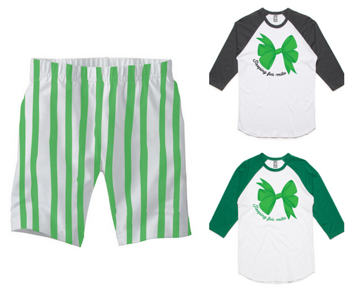 PJ Set: Adult's Mitosaurus Raglan and Green Shorts