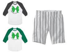 PJ Set: Adult's Raglan and Grey Shorts