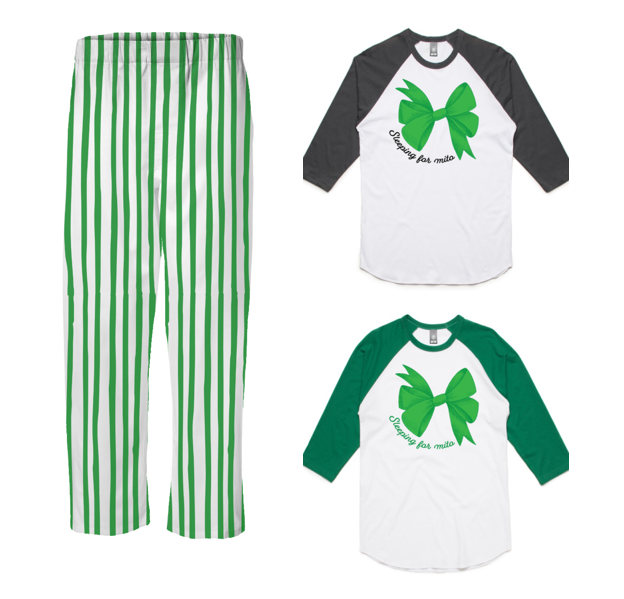 PJ Set: Adult's Raglan and Green Pants