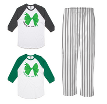 PJ Set: Adult's Raglan and Grey Pants