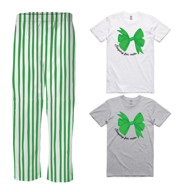 PJ Set: Adult's Tee and Green Pants