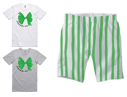 PJ Set: Adult's Tee and Green Shorts