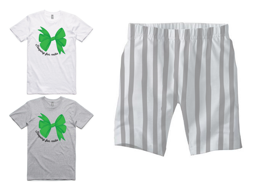 PJ Set: Adult's Tee and Grey Shorts