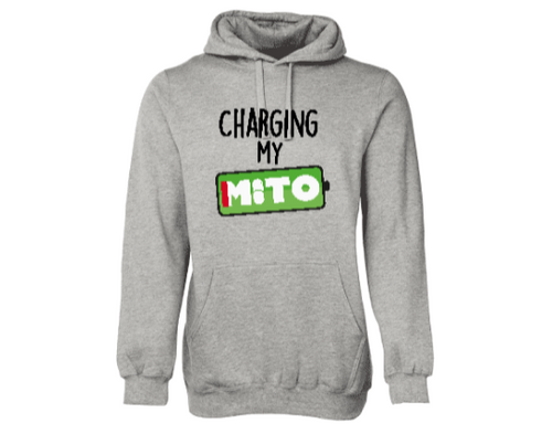 Charging My Mito Adult Hoodie